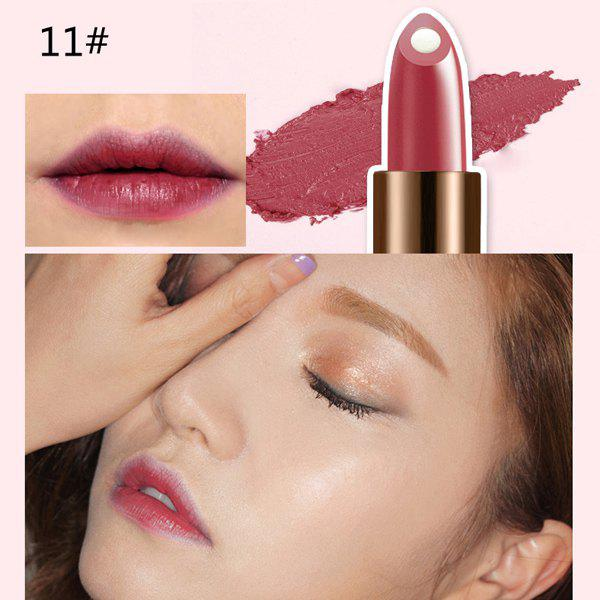 Sale Stylish 12 Colours Natural Snail Filling Hydrated Glossy Moisturizing Lipstick