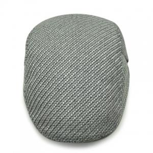 Stylish Solid Color Ramie Cotton Fabric Beret For Men - LIGHT GRAY
