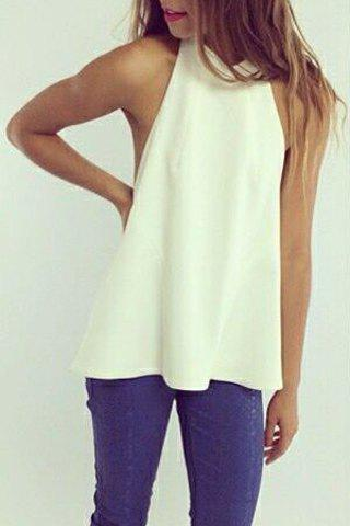Halter Sleeveless Backless T Shirt For Women