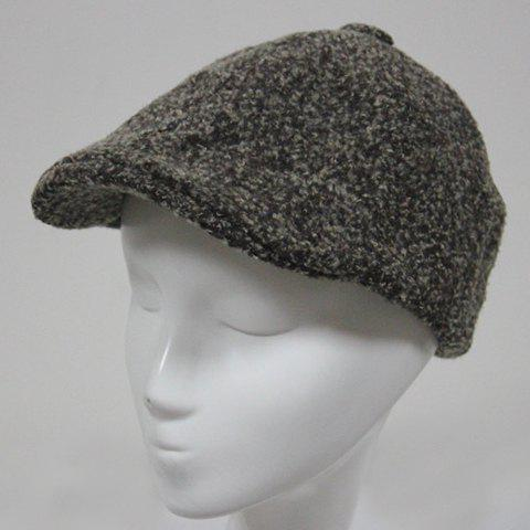 Cheap Stylish Faux Cashmere Cabbie Hat For Men - KHAKI  Mobile