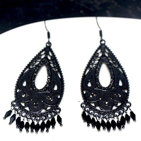 Fashion Pair of Delicate Bohemia Hollow Out Water Drop Earrings For Women