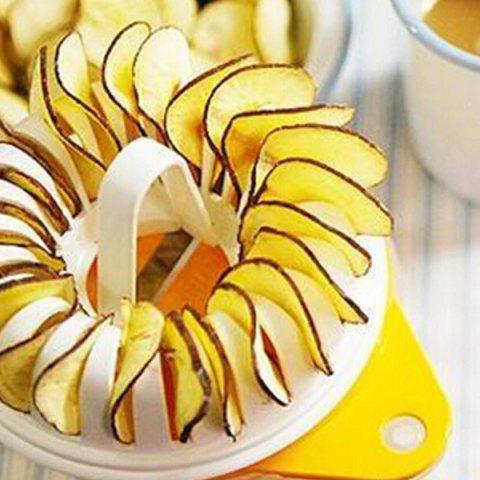 Fancy A Set of Quality Home DIY Microwave Oven Baked Potato Chips with Grill Basket Slicer -   Mobile