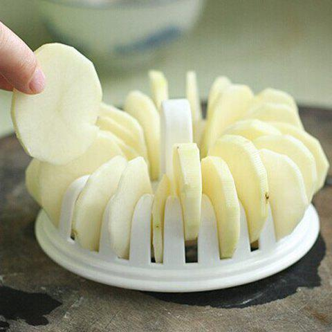Shops A Set of Quality Home DIY Microwave Oven Baked Potato Chips with Grill Basket Slicer -   Mobile