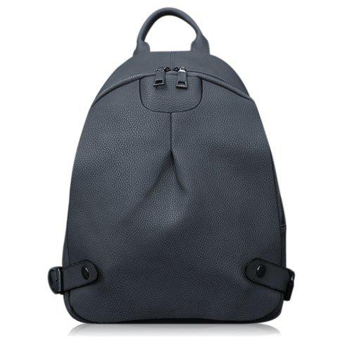 Outfits Concise Solid Color and Zipper Design Backpack For Women