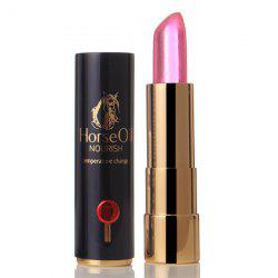 Stylish Natural Horse Oil Color Change Hydrated Moisturizing Health Jelly Lip Balm LipStick -