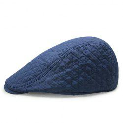 Stylish Rhombus Mesh Thread Embellished Solid Color Cabbie Hat For Men -