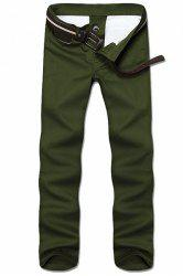 Straight Leg Solid Color Zipper Fly Men's Nine Minutes Of Pants