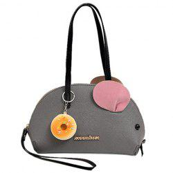 Sweet Mouse Shape and Color Block Design Shoulder Bag For Women -