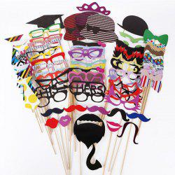 76PCS Funny Various Shape Paper Mask Party Decorate Supplies -