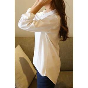 Texedo Long Sleeve Pocket Design Shirt - WHITE S