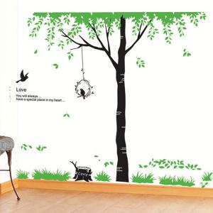 Quality Tree Pattern Removeable Decorative Wall Stickers -