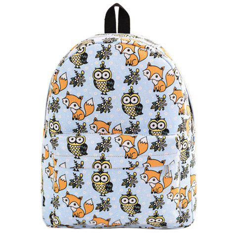 Online Cute Canvas and Print Design Backpack For Women