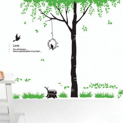 Quality Tree Pattern Removeable Decorative Wall Stickers - Green