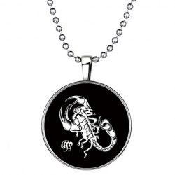 Chic Scorpion Round Shape Noctilucent Pendant Necklace For Women