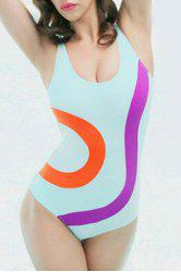 Sexy Color Block One Piece Swimwear For Women