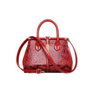 Chinese Style Embossing and Metal Design Tote Bag For Women -