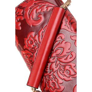 Ethnic Style Chains and Embossing Design Crossbody Bag For Women -