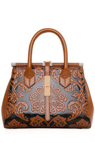 Hot Chinese Style Embossing and Metal Design Tote Bag For Women