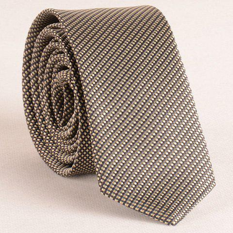 Discount Stylish Pin Checks Jacquard 5CM Width Tie For Men - KHAKI  Mobile