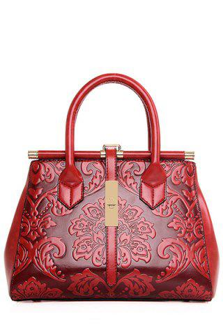 Cheap Chinese Style Embossing and Metal Design Tote Bag For Women