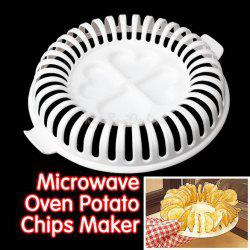 A Set of Quality Home DIY Microwave Oven Baked Potato Chips with Grill Basket Slicer -