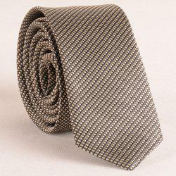 Stylish Pin Checks Jacquard 5CM Width Tie For Men - KHAKI