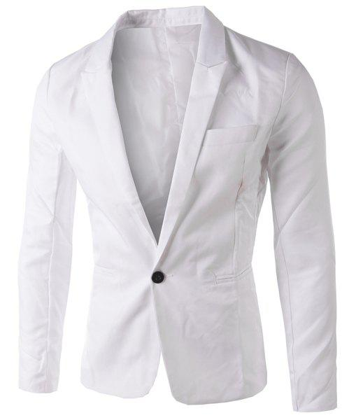 Hot Casual Tailored Collar Single Button Solid Color Blazer For Men