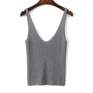 Stylish Straps Solid Color Crop Tank Top For Women