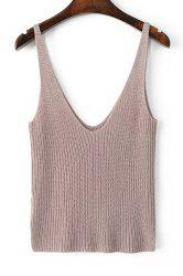 Stylish Straps Solid Color Crop Tank Top For Women - PINK