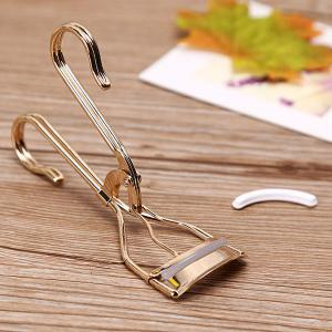 Stylish Simple Golden Curling Eyelash Curler with Replaceable Bar -