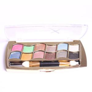 Stylish 12 Colours Long Lasting Diamond Eyeshadow Palette with Mirror and Brush -