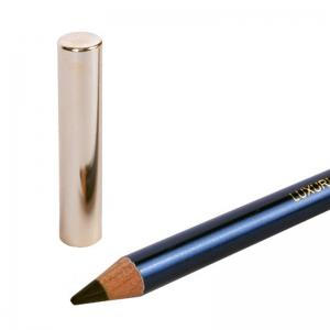 Stylish Wooden Handle Covered Black Waterproof Smudge-Proof Eyeliner Pencil -