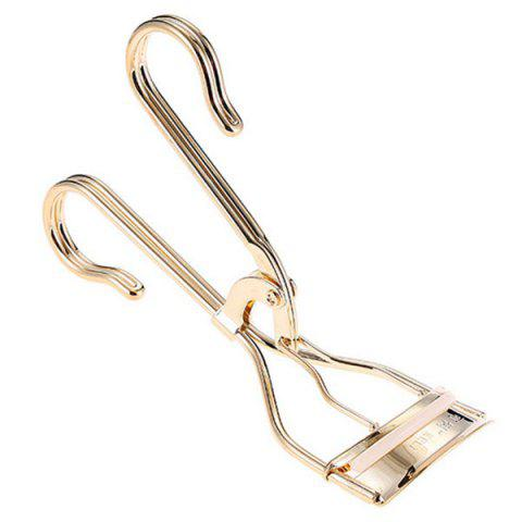 Online Stylish Simple Golden Curling Eyelash Curler with Replaceable Bar