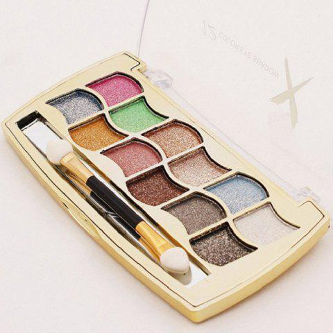Shops Stylish 12 Colours Long Lasting Diamond Eyeshadow Palette with Mirror and Brush