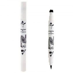 Stylish Black Waterproof Smudge-Proof Star Double-End Liquid Eyeliner Pencil -