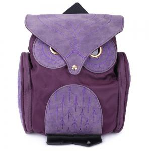 Stylish Owl Shape Solid Color Design Women Shoulder Satchel - Purple