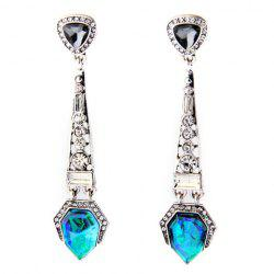Pair of Graceful Rhinestoned Faux Crystal Geometric Earrings For Women