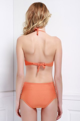 Shops Padded Push Up Bikini Set - S ORANGE Mobile