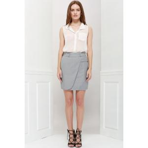 Graceful OL Style Women's Pencil Skirt(With Belt) -