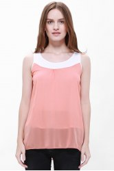 Popular Plus Size Sleeveless Chiffon Women's Summer Blouse