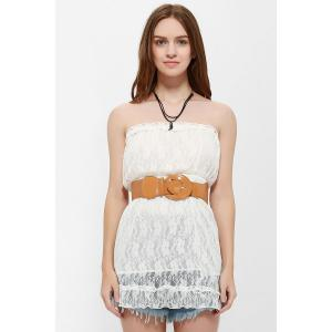 Strapless Mini Lace Tube Dress