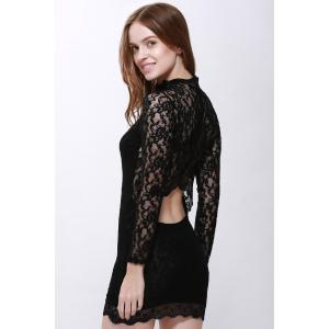Lace Back Cut Out Mini Night Club Bodycon Dress