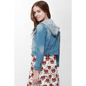 Pocket Design Long Sleeve Short Denim Coat -