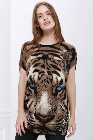 Best Stylish Style Tiger Print Women's T-Shirt COLORMIX ONE SIZE