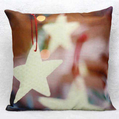 Unique Star Pattern Square Shape Synthesis of Linen Pillow Case(Without Pillow Inner)