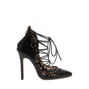 Sexy Cross-Strap and Openwork Design Pumps For Women - Black - 40