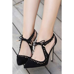 Sexy Hollow Out and Pointed Toe Design Pumps For Women -