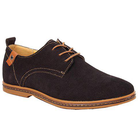 Unique Simple Suede and Lace-Up Design Casual Shoes For Men