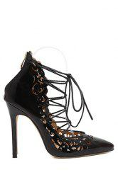 Sexy Cross-Strap and Openwork Design Pumps For Women