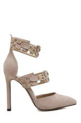Stylish Buckles and Hollow Out Design Pumps For Women